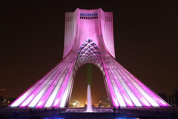 تاریخچه برج آزادی تهران
