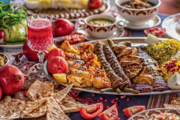 رستوران های های نزدیک کاخ نیاوران تهران