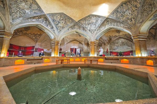معماری-حمام-وکیل شیراز
