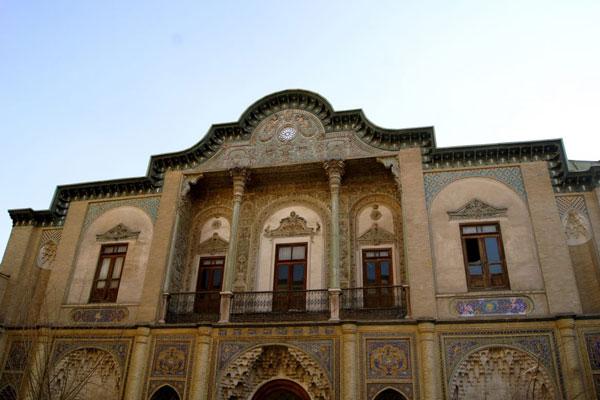 معماری کاخ مسعودیه تهران