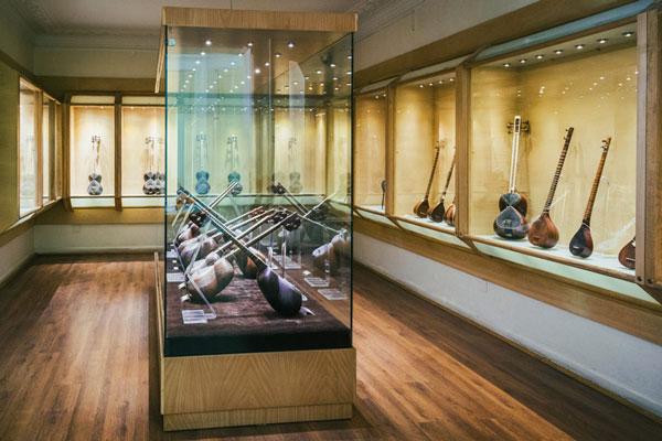 بخش های مختلف موزه موسیقی ایران