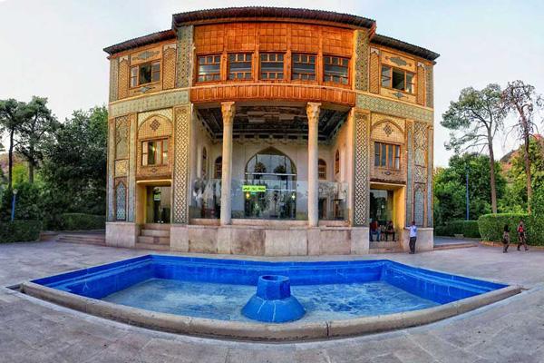 ساختار باغ دلگشا شیراز