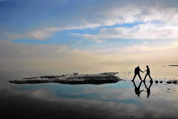 آشنایی موقعیت مکانی دریاچه ارومیه