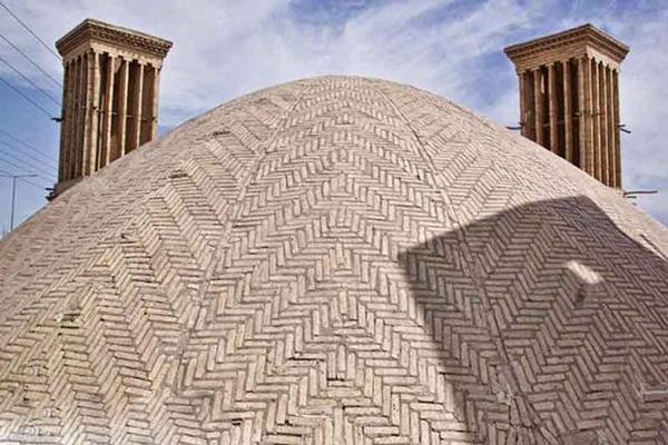 معماری آب انبار رستم گیو یزد