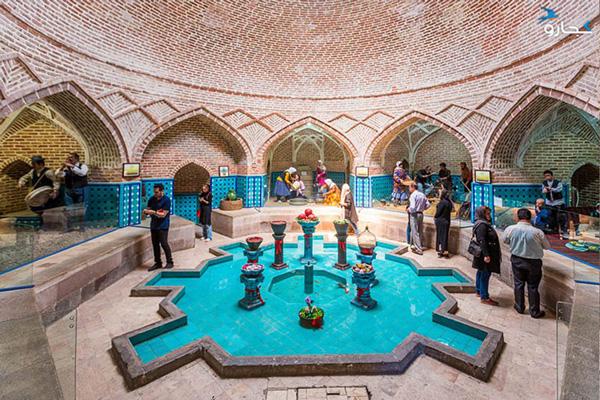 معماری-حمام-قجر قزوین