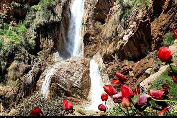 موقعیت-مکانی-آبشار-نوژان خرم آباد